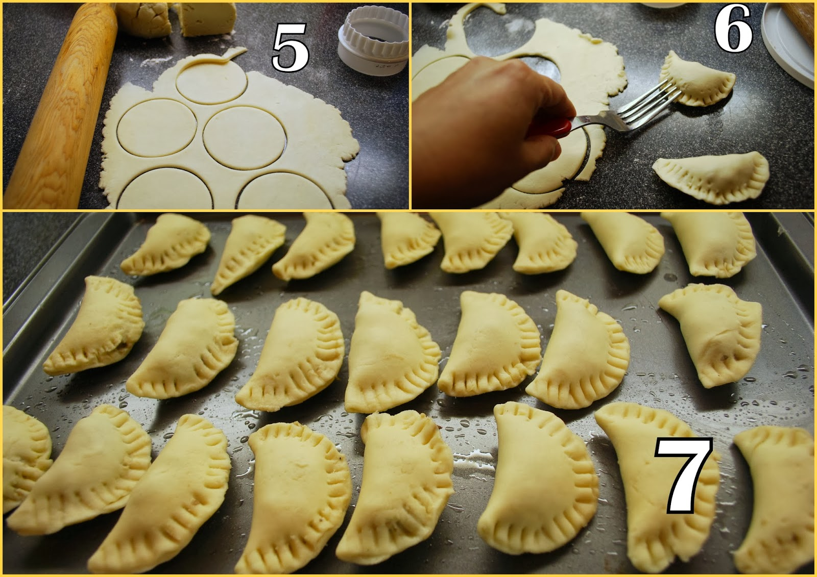 how to cut pastry into circle