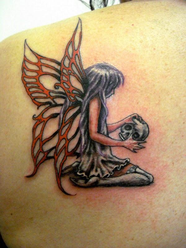 Left hand tony tattoo for Skull fairy tattoos