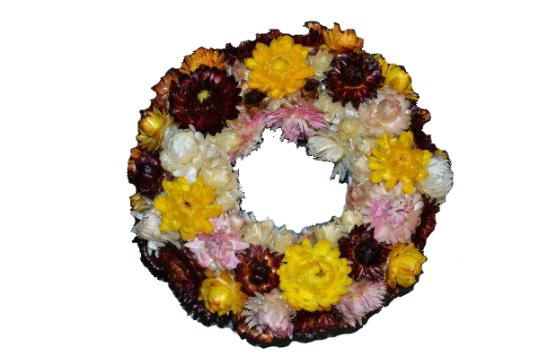 Dry flowers wreath