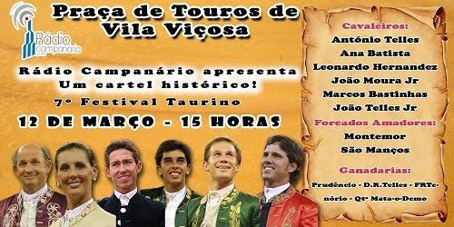 7º FESTIVAL TAURINO DA RÁDIO CAMPANÁRIO EM VILA VIÇOSA