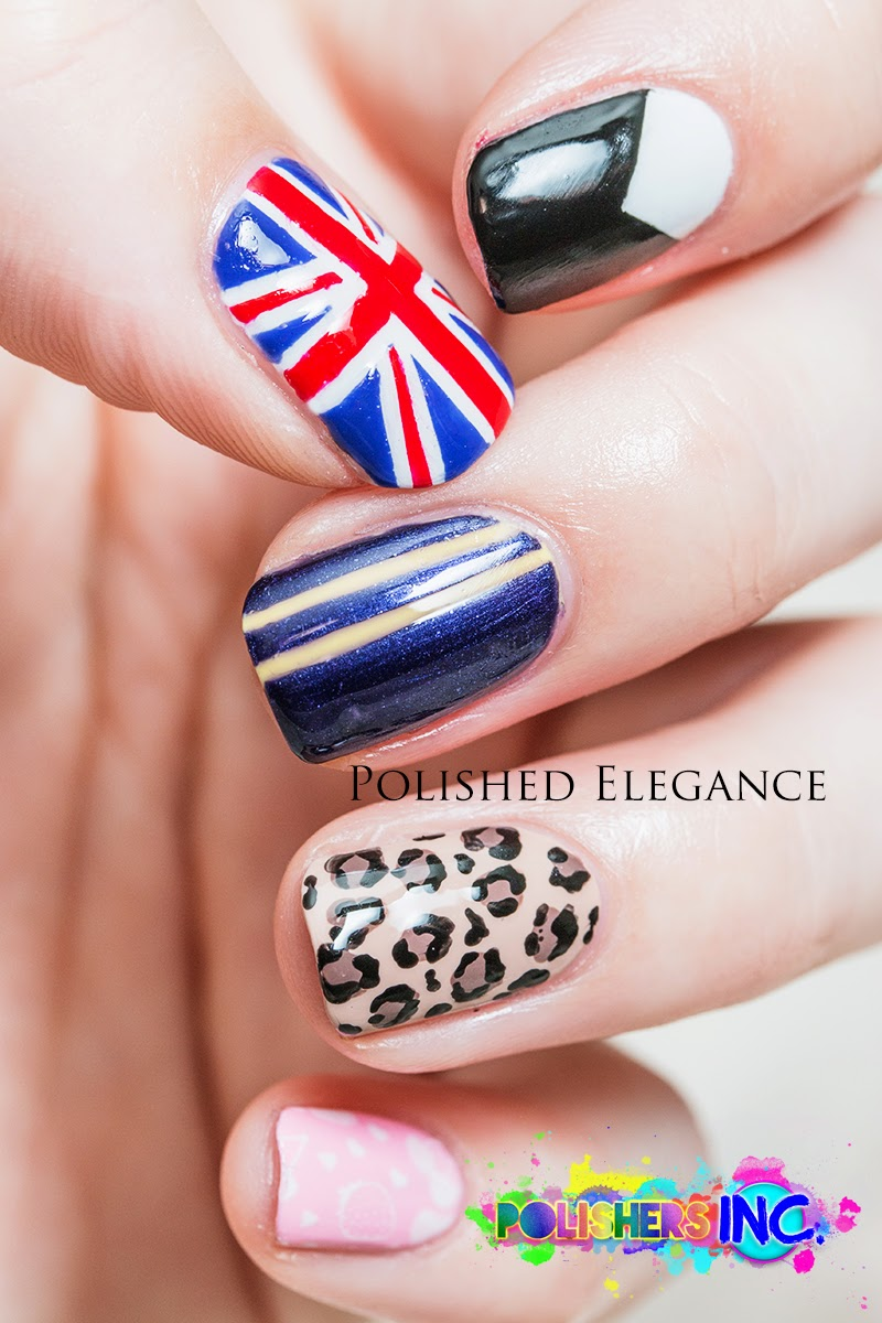 Spice Girls nail art manicure So 90's manicure 90's inspired nail art manicure
