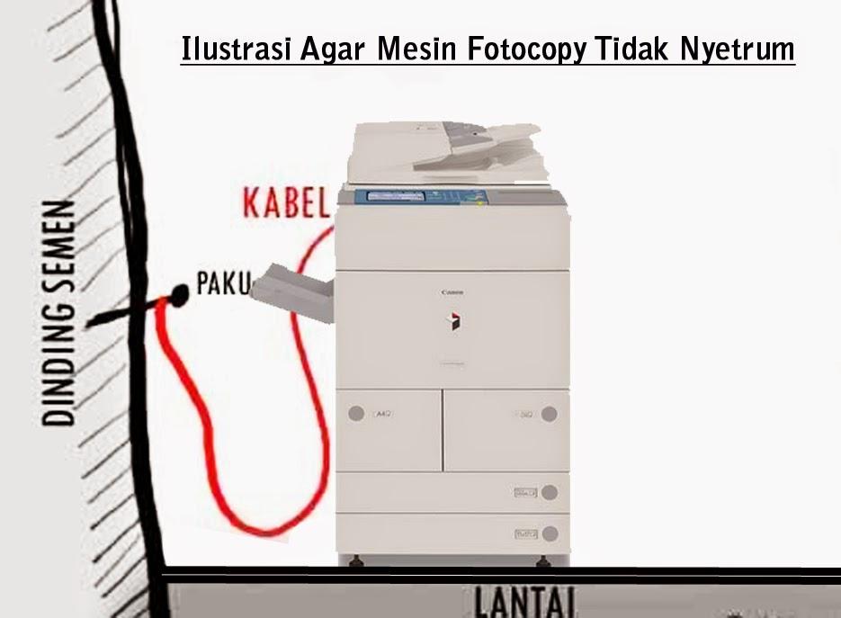 Mengatasi Mesin Fotocopy Nyetrum