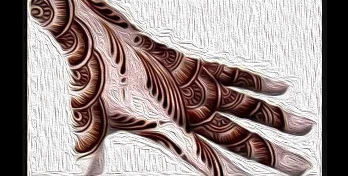 amazing back hand mehndi design