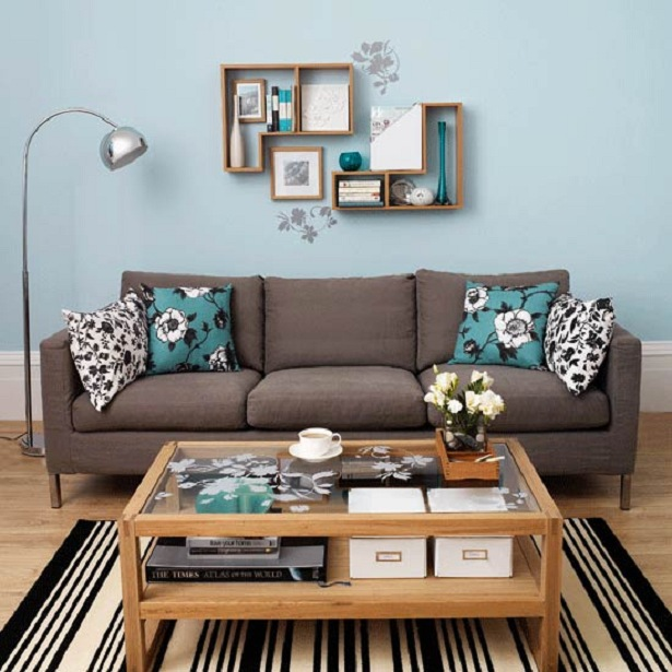 awesome teal living room 01