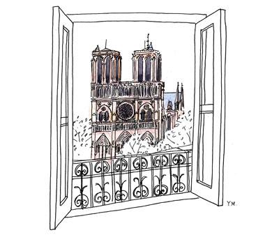 Notre Dame by Yukié Matsushita