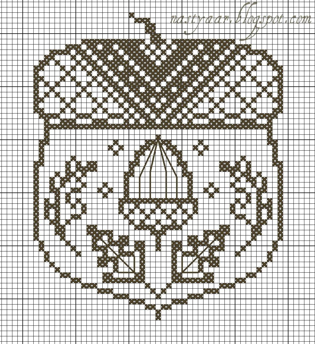 Вышивка крестом желудь схема 53