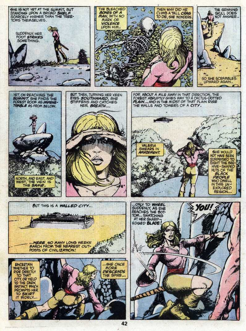 the characterization of valeria in red nails a story by robert e howard Red nails is a conan the barbarian novella by robert e howard, the last conan story he ever wrote published in 3 parts, from july to october, 1936 it.
