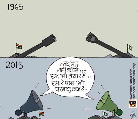 india pakistan cartoon, Terrorism Cartoon, indian army, cartoons on politics, indian political cartoon