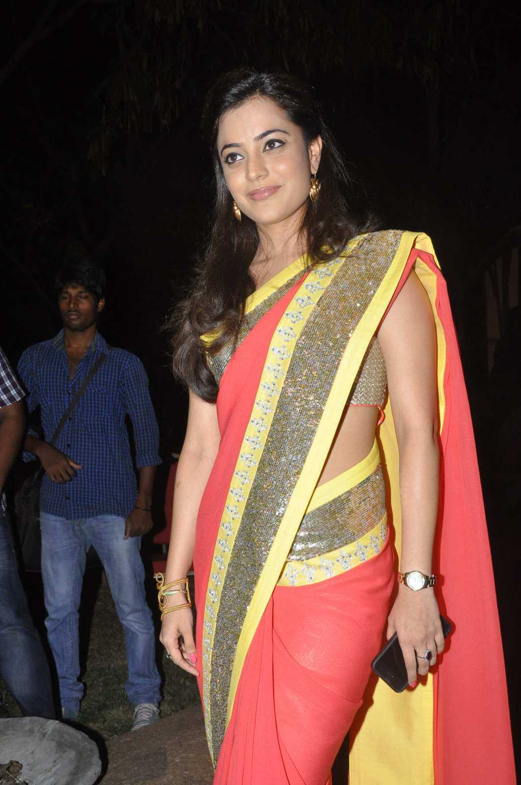 Nisha Agarwal Latest Photos in Red Yellow Saree