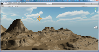 Canyon terrain (not yet textured)