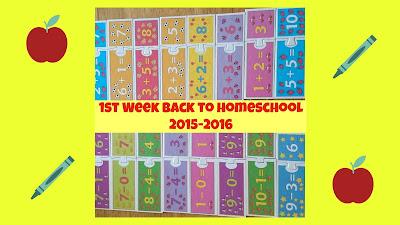 1st Week Back to Homeschool 2015-2016