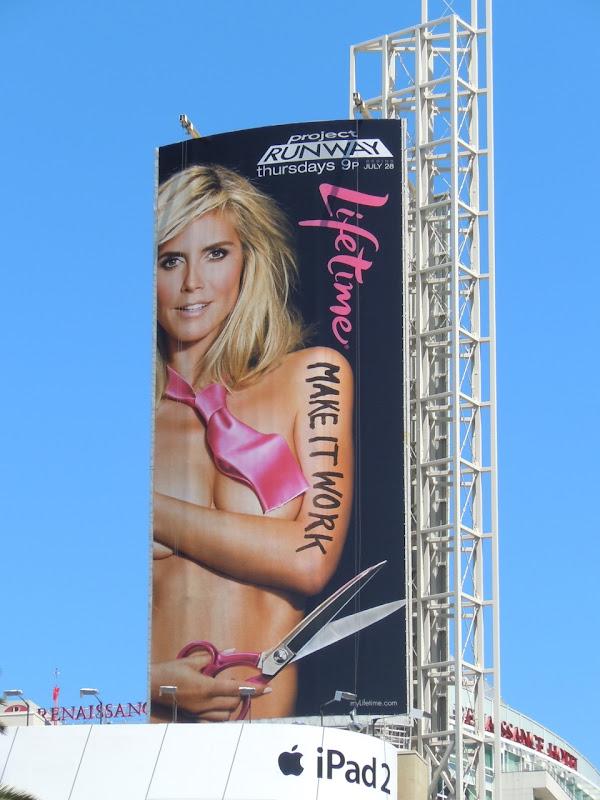 Heidi Klum Project Runway season 9 billboard