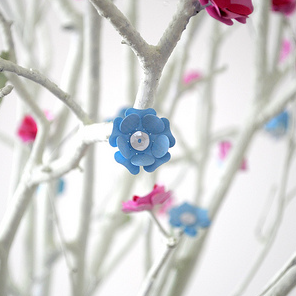 Blue flowers for my Easter tree by Torie Jayne
