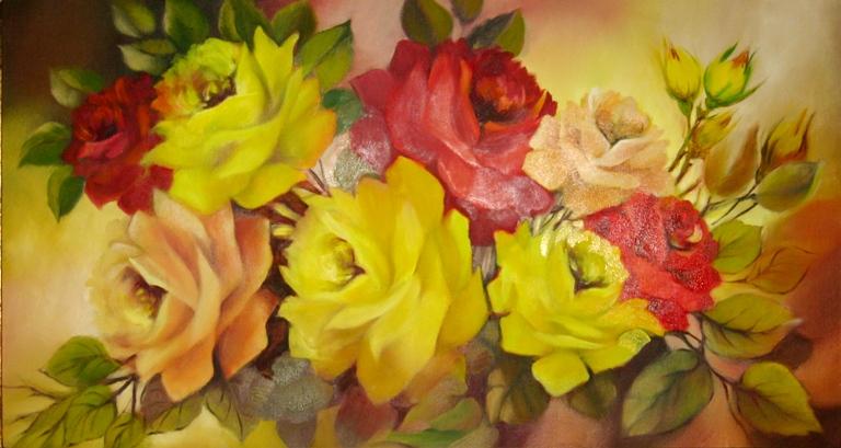 flores oleo pinturas flores al óleo sobre lienzo flores pintadas al