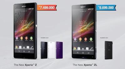 Perbedaan Sony Xperia Z dengan Xperia ZL