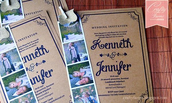 Vintage Wedding Card with Photo Strip Printing Kuala Lumpur Malaysia