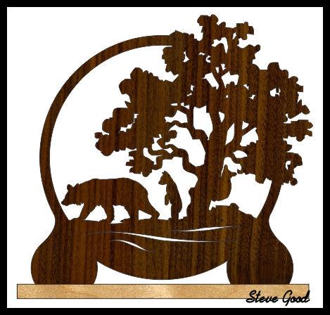 Картина из дерева схема