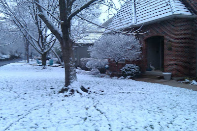 Snow at our house Monday morning
