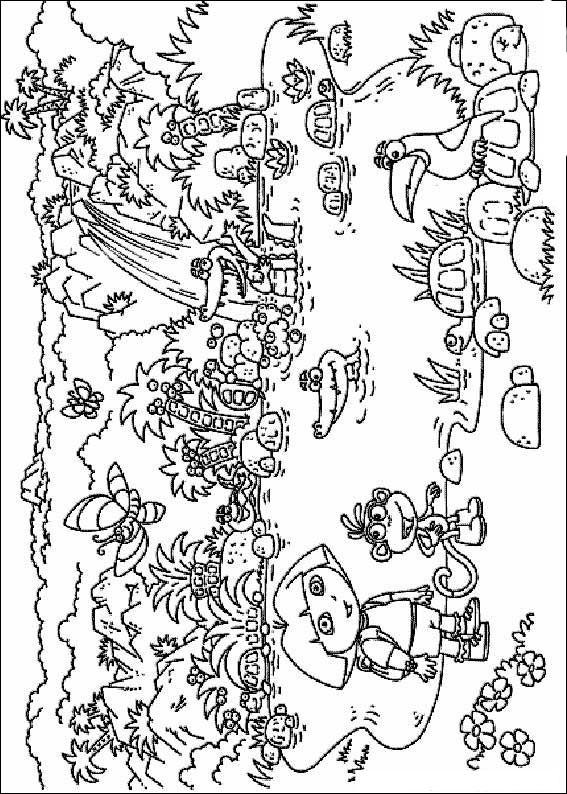 Coloriages a imprimer coloriage dora l 39 exploratrice - Coloriage dora sirene ...