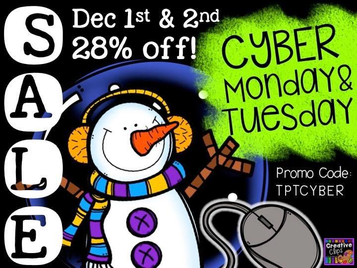 Cyber Monday TpT Sale