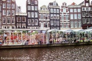Bloemenmarkt floating flower market di amsterdam