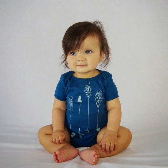 blue arrow onesie