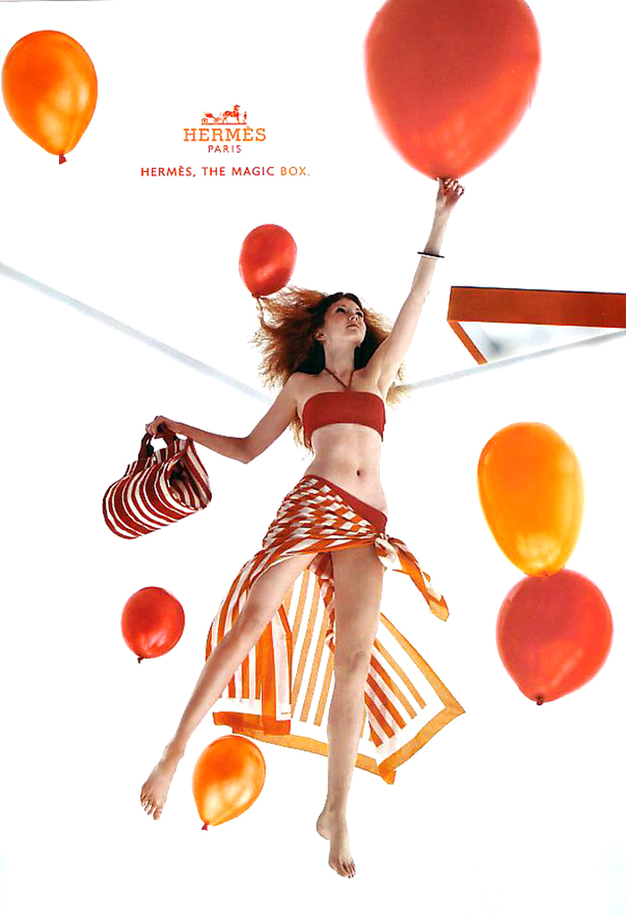 Lily Cole in Hermes Spring/Summer 2004 campaign (Eric Traore)