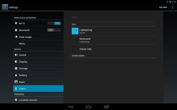 Android L incorporará la opción de crear diferentes perfiles