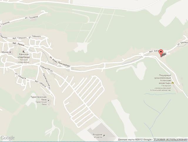 Карта проезда до Ларишеса