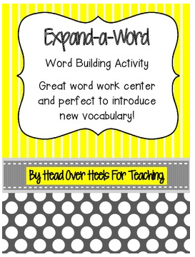 http://www.teacherspayteachers.com/Product/Expand-a-Word-Vocabulary-Word-Building-Activity-854857