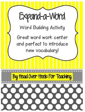 http://www.teacherspayteachers.com/Product/Expand-a-Word-Vocabulary-Word-Building-Activity-854857
