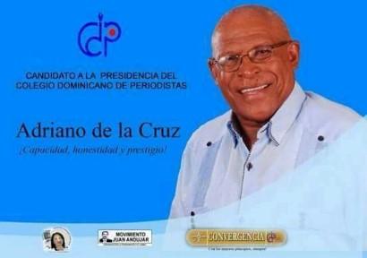 Adriano de la Cruz a la presidencia del Colegio Dominicano de Periodistas.
