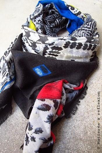 Carré en soie et laine Mii Accessoires
