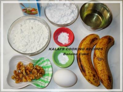 Banana Cake | வாழைப்பழம் கேக் | Vazhai Pazham Cake