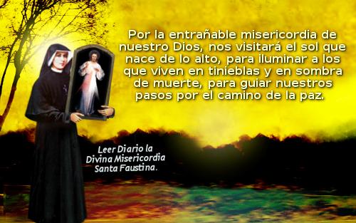 santa faustina con el benedictus
