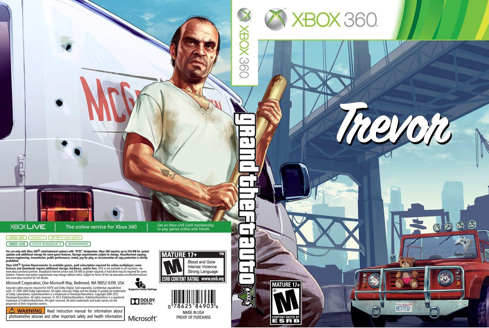 Capa Grand Theft Auto V (GTA 5) Xbox 360 [Exclusiva]