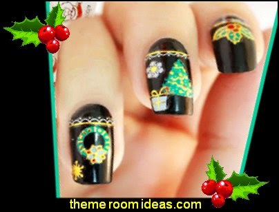 Decorating theme bedrooms maries manor nail art christmas christmas nail sticker santas snowman christmas tree bell prinsesfo Image collections