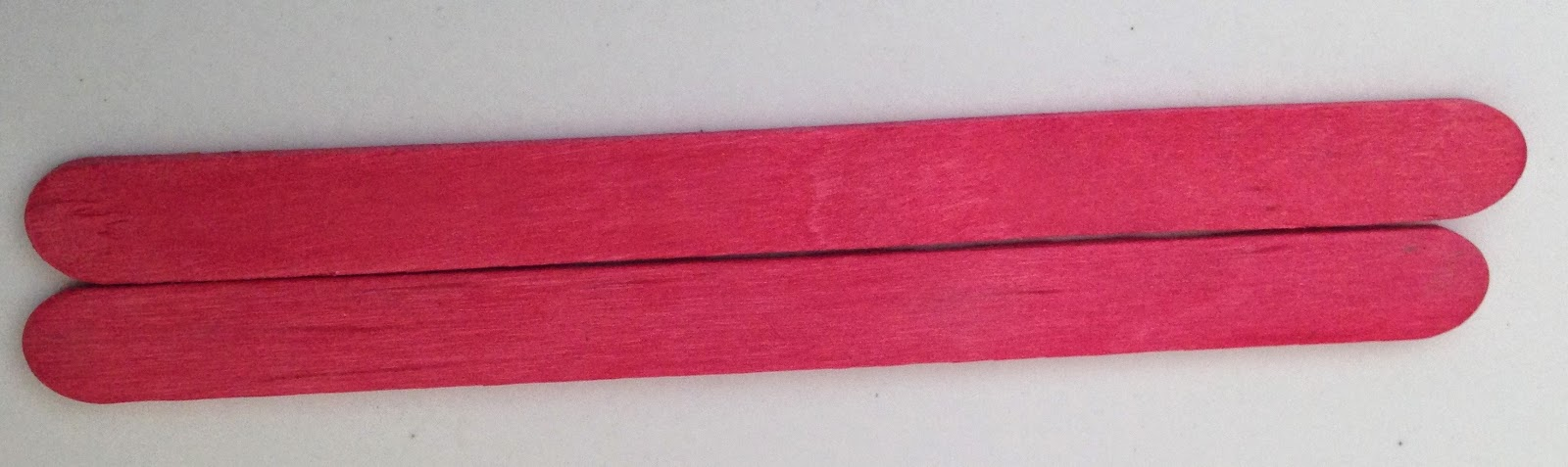 2 red color sticks