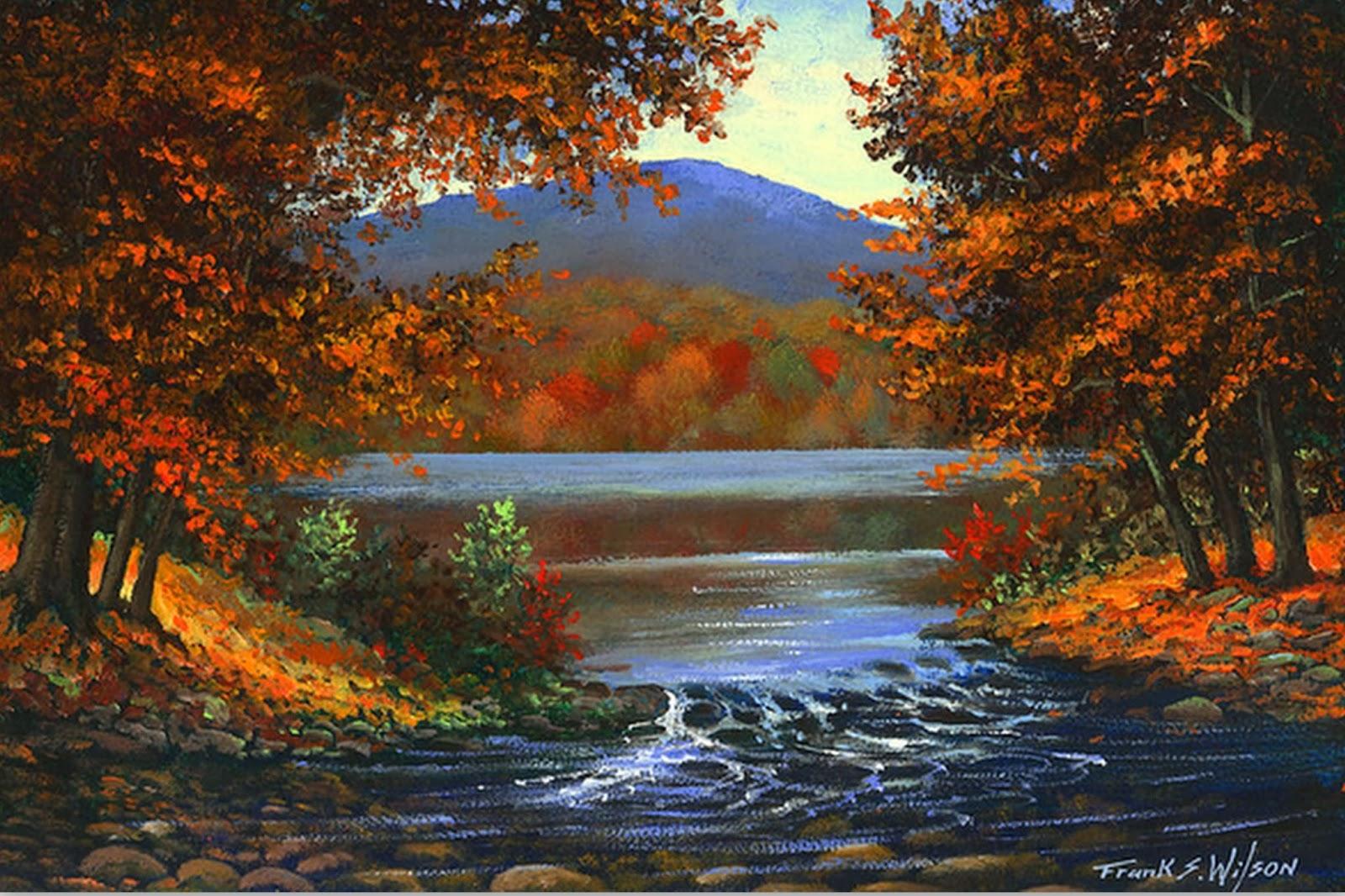 Cuadros pinturas oleos im genes de paisajes pinturas realistas de frank wilson - Imagenes de paisajes ...
