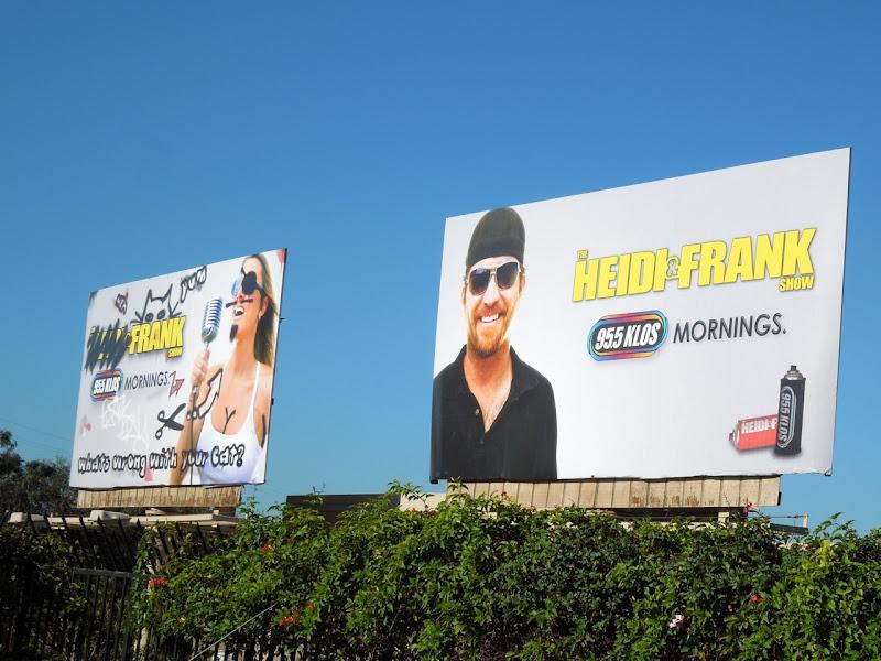 Heidi Frank Show radio billboards