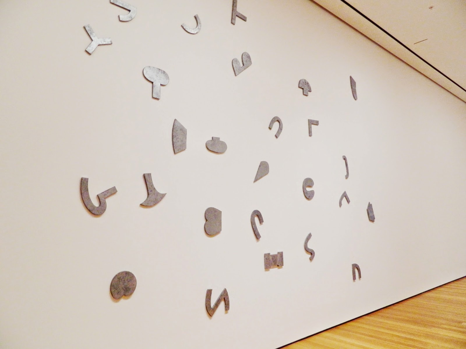 Richard Tuttle, Letters (The Twenty-Six Series) silver letters forms wall shapes