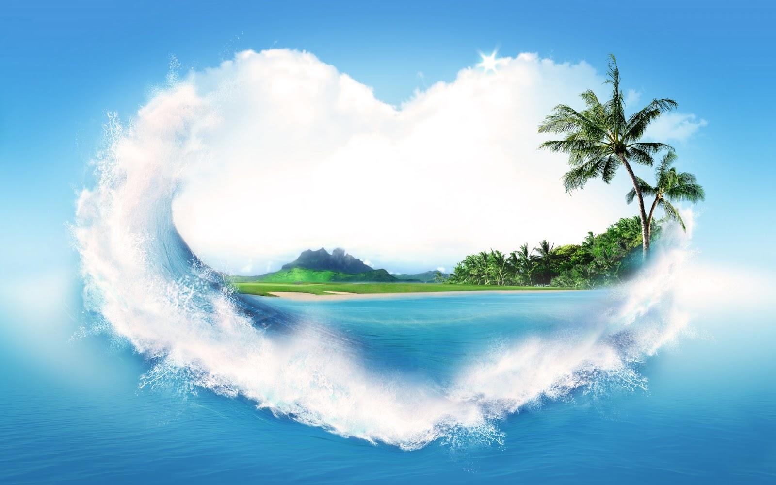 Heart Cloud HD Love Wallpaper