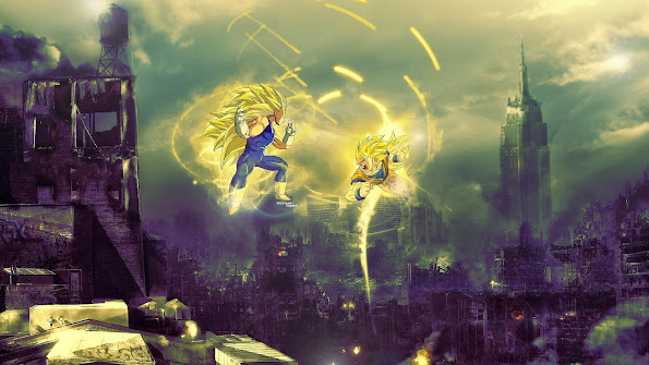 Super Saiyan 3 Vegata vs Goku 9h