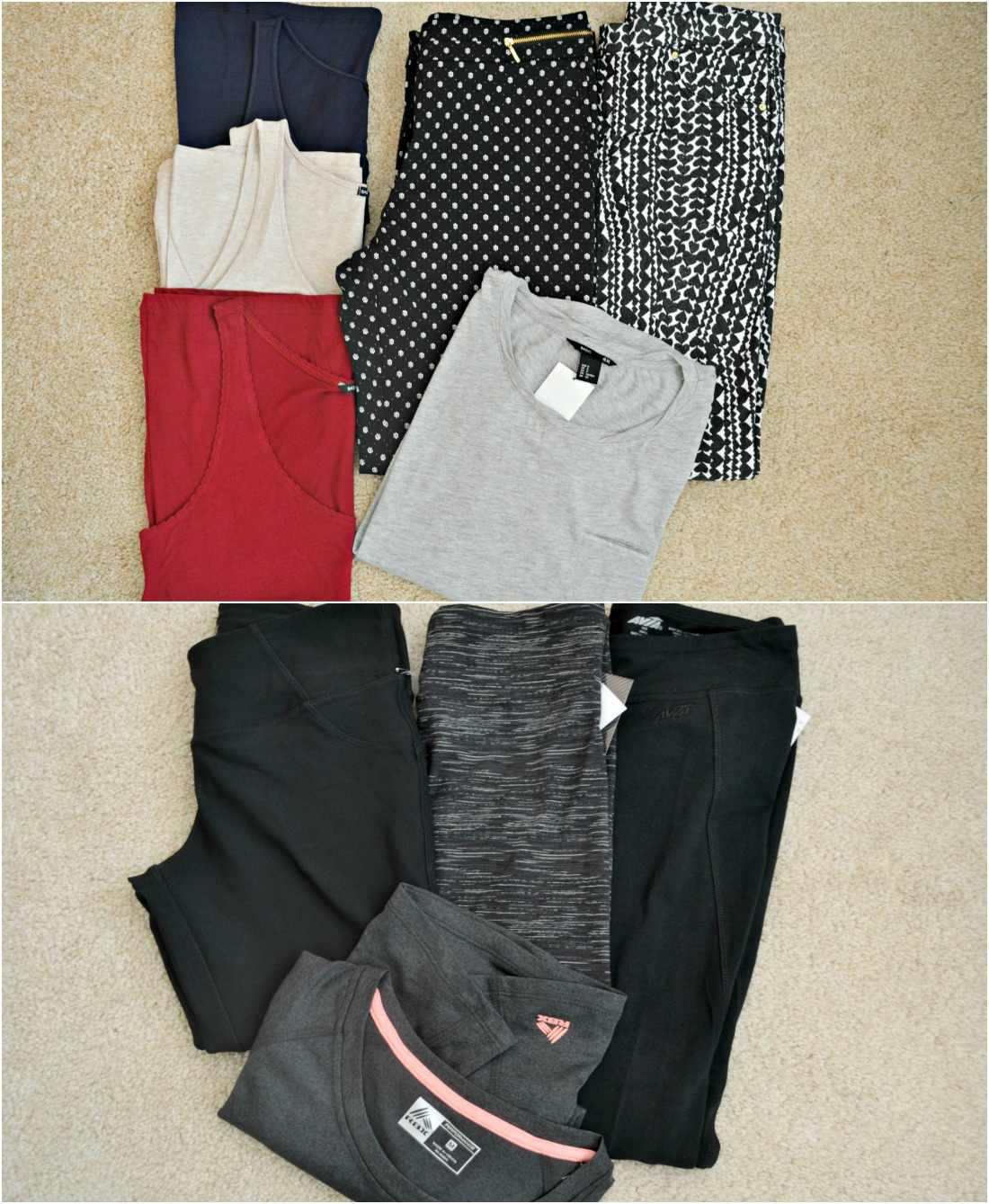 H&M trousers vests running leggings