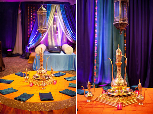 The theme colours and decor Bride-In-Dream I Dream of a Morocco Wedding & Moroccan Wedding Decor | Romantic Decoration