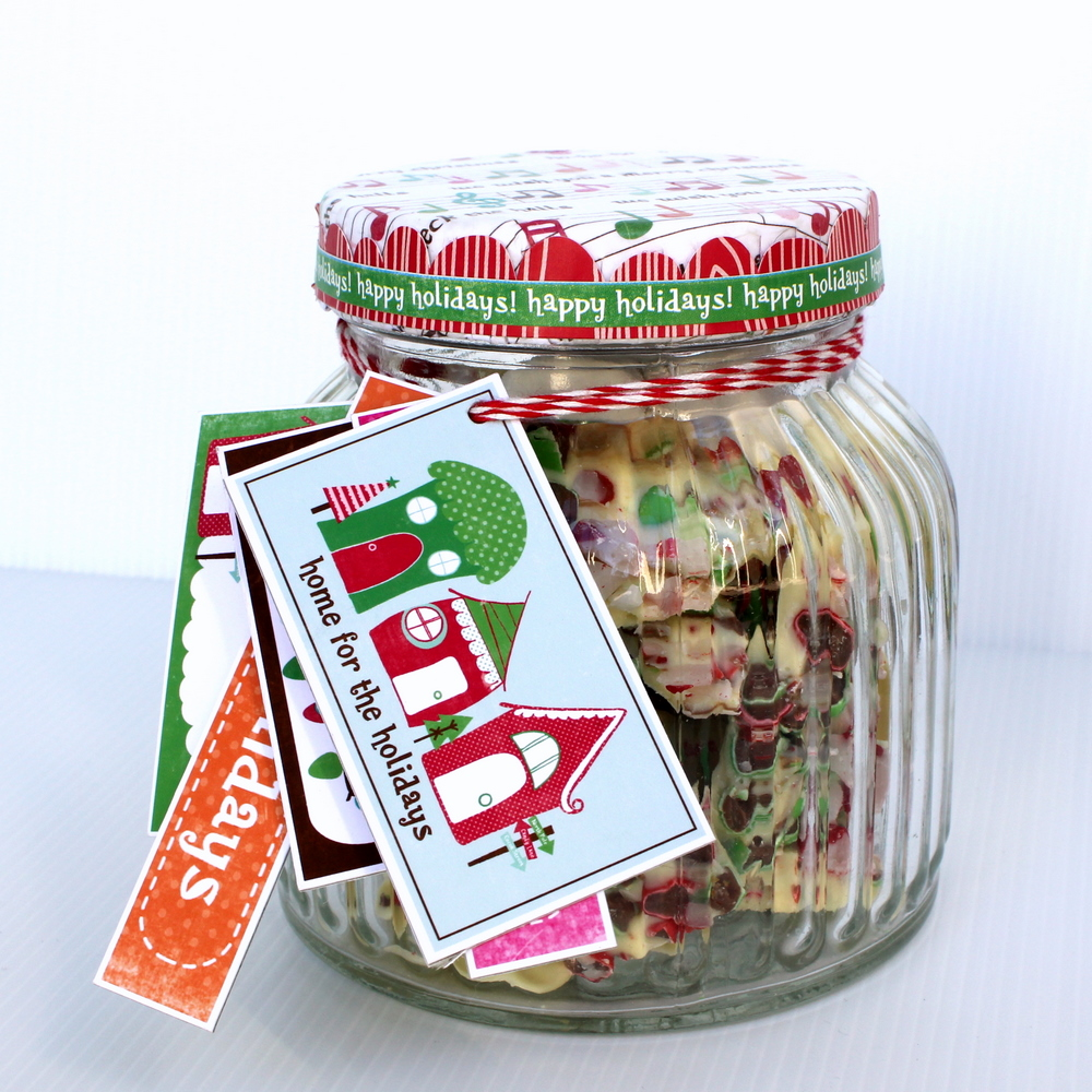 Neighbor gift idea with echo park papervine for Christmas cookies to make for gifts