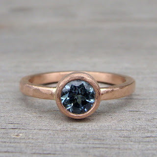 sapphire rose gold ring
