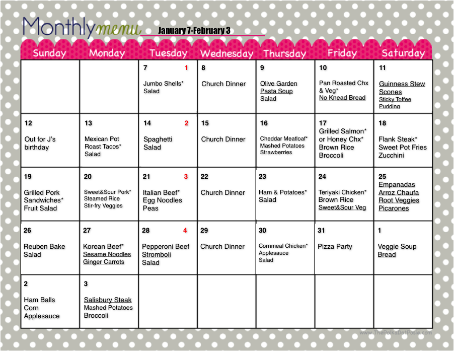 Weekly Calendar Breakfast Lunch Dinner : My journey to super mom a new take on meal planning week