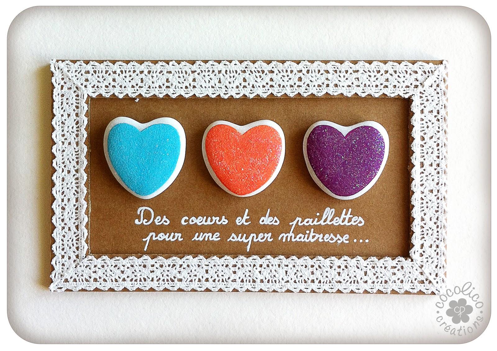 cocolico creations des coeurs et des paillettes pour une ma tresse. Black Bedroom Furniture Sets. Home Design Ideas