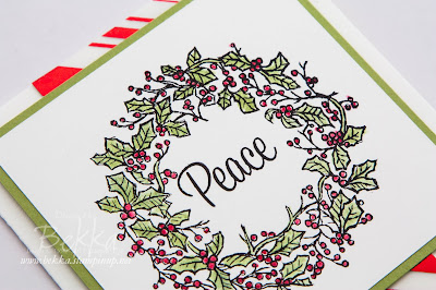 Peaceful Wreath Fast and Fabulous Christmas Card - check it out here